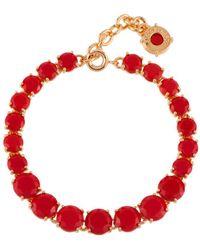Les Nereides - La Diamantine Vermilion Red One Row Luxurious Bracelet - Lyst
