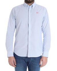 La Martina - Men's Light Blue Cotton Shirt - Lyst