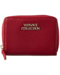 Versace - Versace Collection Leather Zip Around Wallet - Lyst