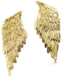 Bernard Delettrez - Women's Gold Metal Earrings - Lyst