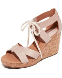 Sperry Top-Sider - Womens Dawn Ari Leather Open Toe Casual Platform Sandals - Lyst