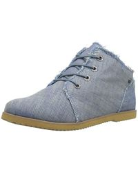 BEARPAW - Womens Claire Canvas Hight Top Lace Up Fashion Trainers - Lyst