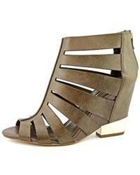 7c88ecfd338 Lyst - Dolce Vita Heath Women Open Toe Leather Wedge Sandal in White