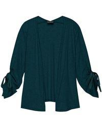 B Collection By Bobeau - Bobeau Nia Plus Ruched Sleeve Knit Cardigan - Lyst