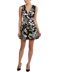 Alice + Olivia - Alice + Olivia Patty Silk-blend A-line Dress - Lyst