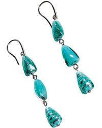 Antica Murrina - Women's Light Blue Steel Earrings - Lyst
