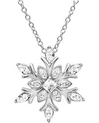 Amanda Rose Collection - Sterling Silver Snowflake Pendant-necklace Made With Swarovski Crystals - Lyst