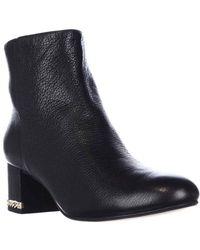 Michael Kors | Sabrina Mid Chain Heel Booties, Black Smooth | Lyst