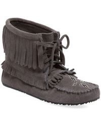 Manitobah Mukluks - Harvester Suede Moccasin Bootie - Lyst