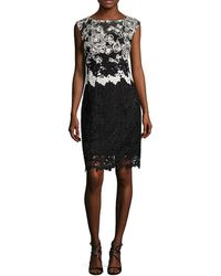 Kay Unger - Lace Cap Sleeves Cocktail Dress - Lyst
