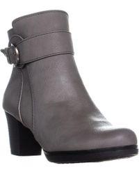 LifeStride - Keepsake Heeled Ankle Boots, Grey - Lyst