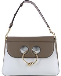 J.W.Anderson - Women's White/brown Leather Shoulder Bag - Lyst