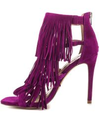 Steve Madden - Womens Fringly Suede Open Toe Ankle Strap D-orsay Pumps - Lyst