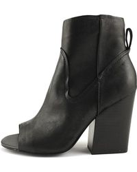 Steve Madden - Womens Veronah Leather Open Toe Ankle Fashion Boots - Lyst