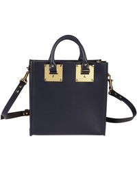 Sophie Hulme - Women's Blue Leather Handbag - Lyst