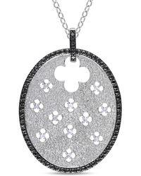 Catherine Malandrino - Diamond Pendant With Chain - Lyst