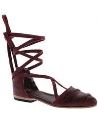 Freebird by Steven - Women's Eryn Ankle Tie D'orsay Flat - Lyst