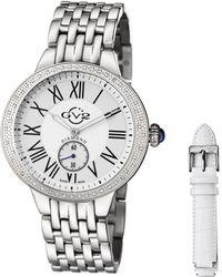 Gv2 - : Diamond Astor Women's Silver Watch With Interchangeable Strap - Lyst