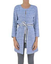 Seventy - Women's Light Blue Cotton Cardigan - Lyst