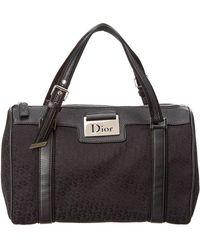 Dior - Black Trotter Canvas Boston Bag - Lyst