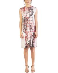 "Miu Miu - Women's Viscose ""michelangelo's David"" Sleeveless Dress White - Lyst"