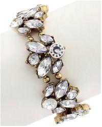 Sparkling Sage | 14k Plated Crystal & Resin Stretch Bracelet | Lyst