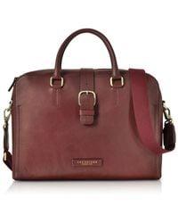 The Bridge - Men's Burgundy Leather Briefcase - Lyst