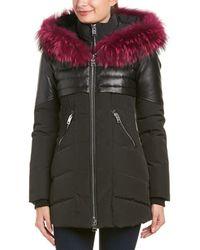 Nicole Benisti - Leather-trim Down Coat - Lyst