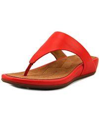81ed6f2e840 Fitflop - Banda Women Open Toe Synthetic Orange Thong Sandal - Lyst