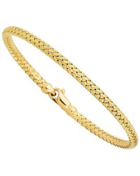 Jewelry Affairs - 14k Yellow Gold Weaved Women's Bangle Bracelet, 7.25 - Lyst
