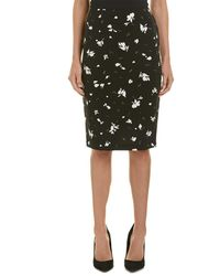 Vince Camuto - Floral Midi Skirt - Lyst