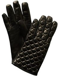 Valentino - Rockstud Spikes Cashmere-lined Leather Gloves - Lyst