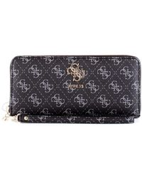 Guess - Women's Black Leather Wallet - Lyst
