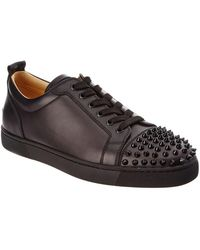 christian louboutin junior spikes black