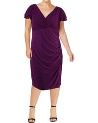 Lauren by Ralph Lauren - Womens Plus Party Flutter Sleeves Special Occasion Dress - Lyst
