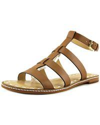 MICHAEL Michael Kors - Fallon Flat Open-toe Leather Slingback Sandal - Lyst