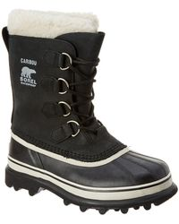 Sorel - Caribou Waterproof Suede And Rubber Boots - Lyst