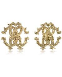 Roberto Cavalli - Women's Gold Metal Earrings - Lyst