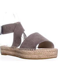 Bettye Muller - Seven Cutout Sandals , Grey - Lyst
