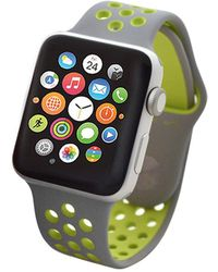 Apple - Nike+ Watch Series 2 38mm Silver Aluminum Case With Volt Nike Sport Band - Lyst