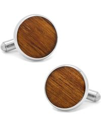 Ox and Bull Trading Co. - Stainless Steel Wood Cufflinks - Lyst