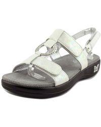 Alegria - Julie Women Open-toe Leather White Slingback Sandal - Lyst