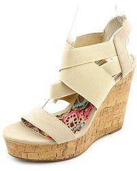 Madden Girl - Womens Eastt Open Toe Casual Platform Sandals - Lyst