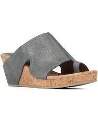 Donald J Pliner - Gee Leather Wedge Sandal - Lyst