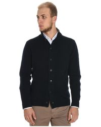 Cruciani - Men's Blue Wool Cardigan - Lyst