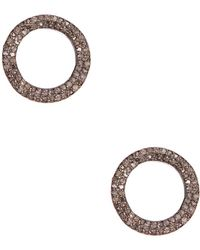 Adornia - Champagne Diamond And Sterling Silver Danica Stud Earrings - Lyst