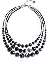 Antica Murrina - Women's Black Steel Necklace - Lyst