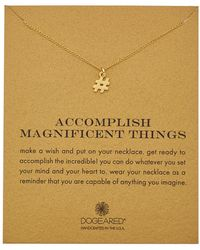 Dogeared - Reminder Collection Hashtag 14k Over Silver Necklace - Lyst