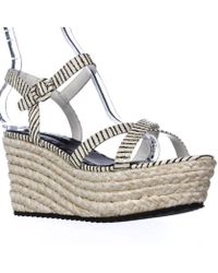 Alice + Olivia - Alice And Olivia Rachel Espadrille Platform Sandals, Cream/black - Lyst