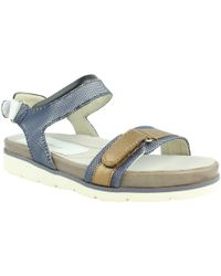 Earth - Womens 801537wlin-972 Navybluemulti Ankle Strap Sandals - Lyst